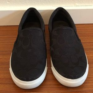 Coach Signature Black Alegra Slip On Sneaker - 9